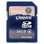 金士顿(Kingston)16GB Class4 SD存储卡